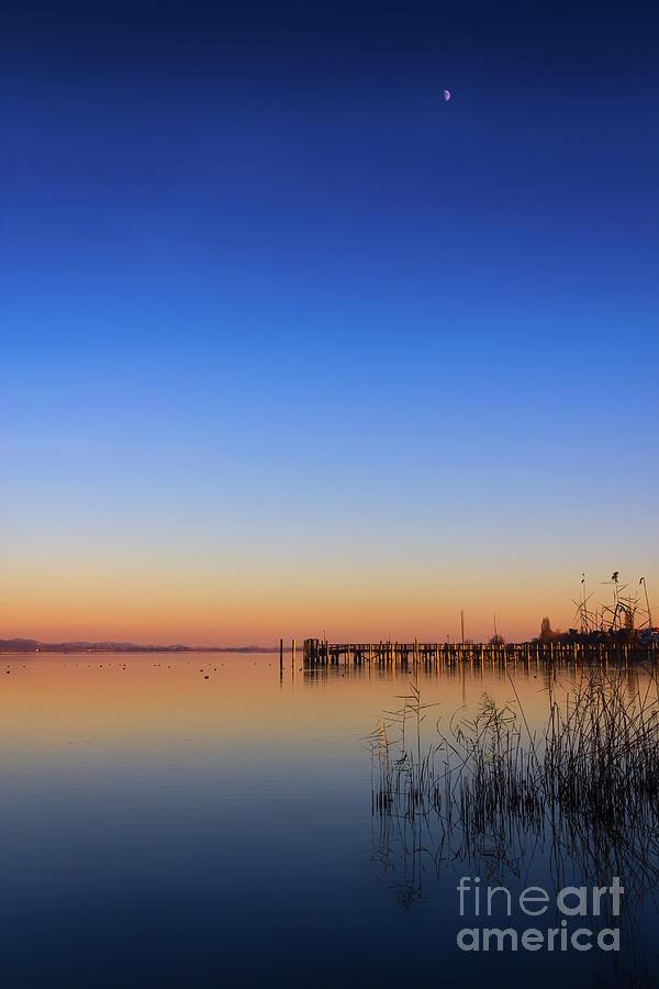 Lake Photograph - Sunset On Lake Constance II by Bernd Laeschke
