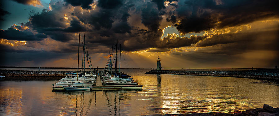 Sunset Photograph - Sunset on Lake Hefner #10 by Don Risi