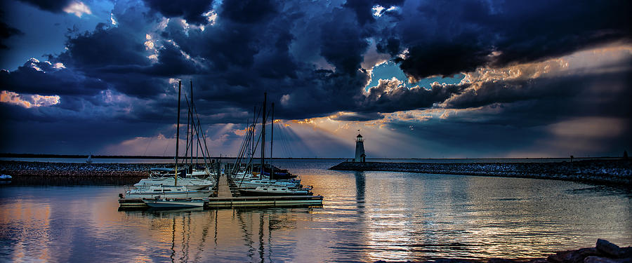 Sunset Photograph - Sunset on Lake Hefner #12 by Don Risi