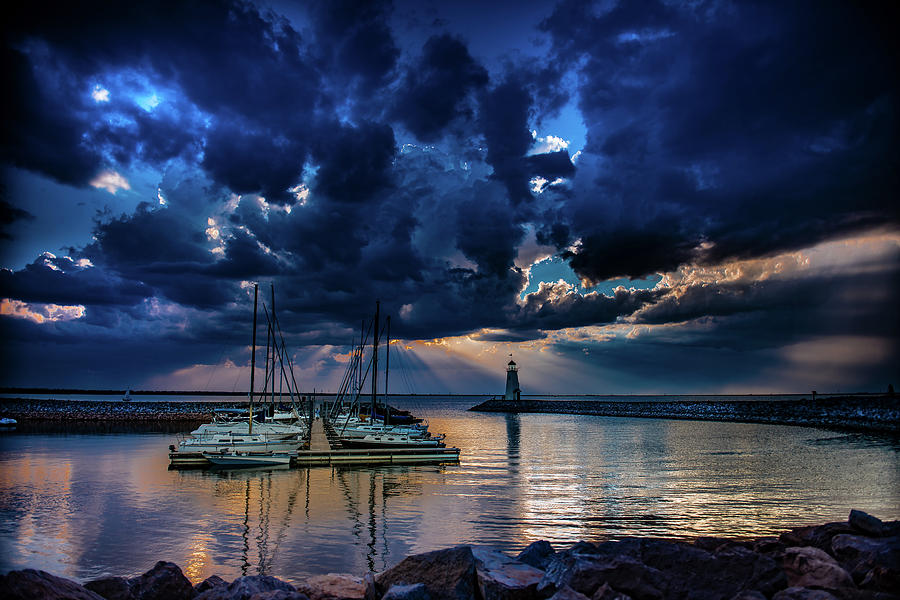 Sunset Photograph - Sunset on Lake Hefner #13 by Don Risi