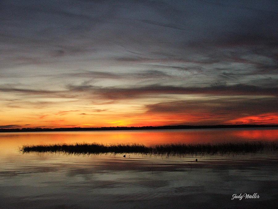Sunset Photograph - Sunset On Lake Lochloosa by Judy  Waller