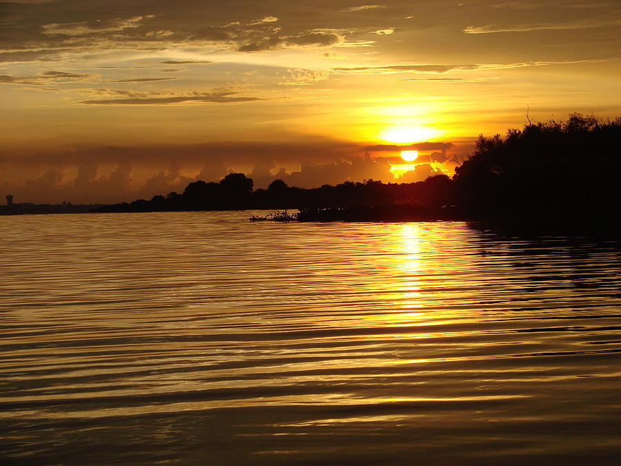 Sunset Photograph - Sunset On Lake Manatee by Kimberly Camacho
