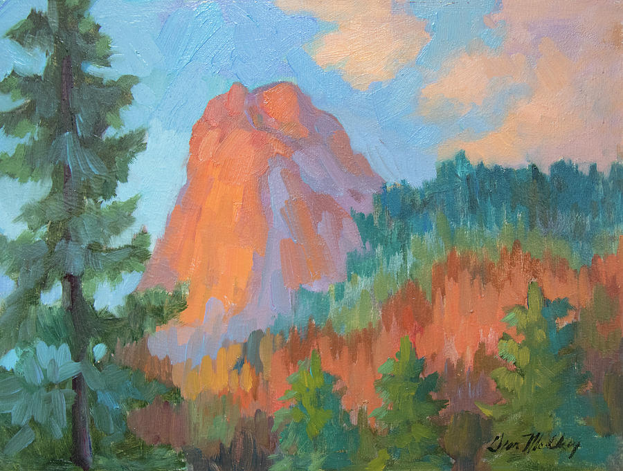 Sunset on Lily Rock by Diane McClary