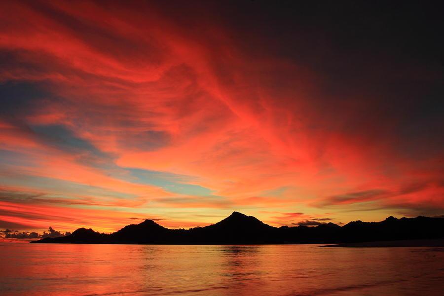 Sunset Photograph - Sunset On Mahoro by Ronny Adolof Buol