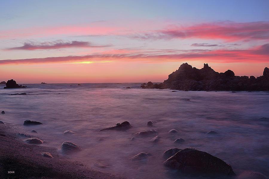 Sunset on Monterey Bay by Dana Sohr