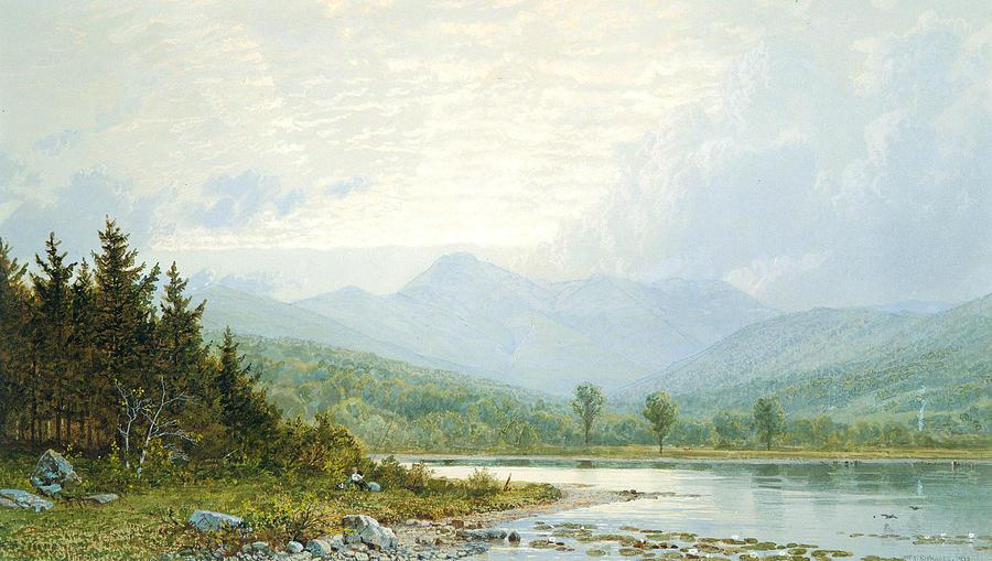 Hudson River School Painting - Sunset On Mount Chocorua, New Hampshire by William Trost Richards