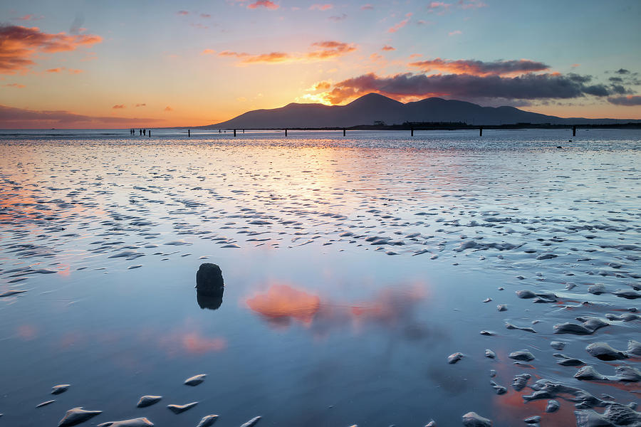 County Down Photograph - Sunset On New Years Day Tyrella Beach by Glen Sumner