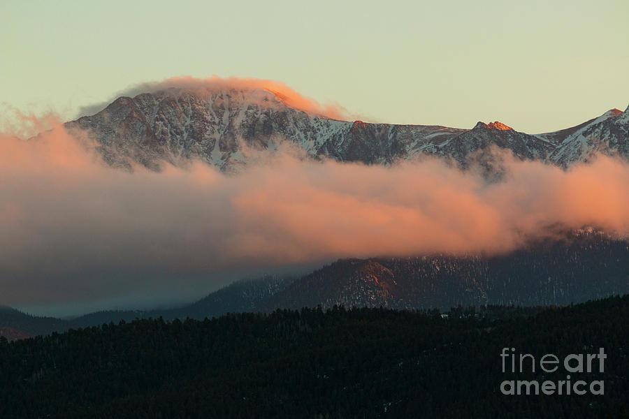 Sunset On Pikes Peak Photograph