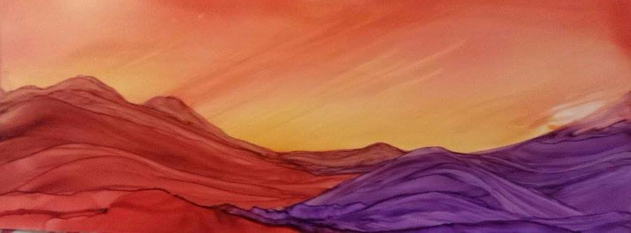 Sunset on Red and Purple Hills by Betsy Carlson Cross