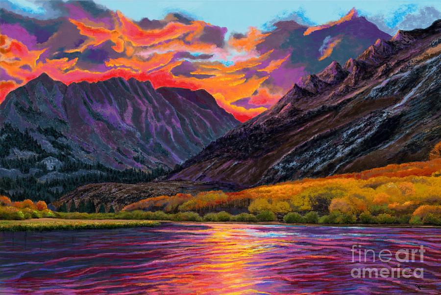 Sunset on Sheltered Lake by Jackie Case