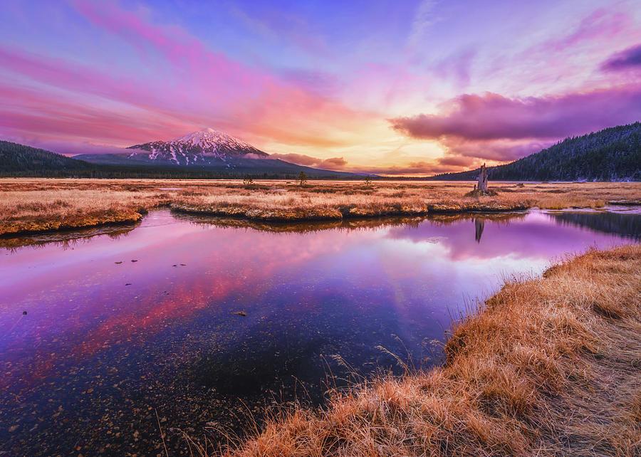 Sunset Photograph - Sunset On Sparks Marsh by S A Littau