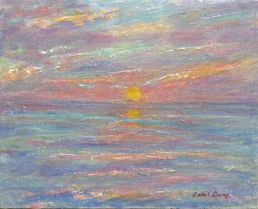 Sun Painting - Sunset On The Bay by Carol Gray