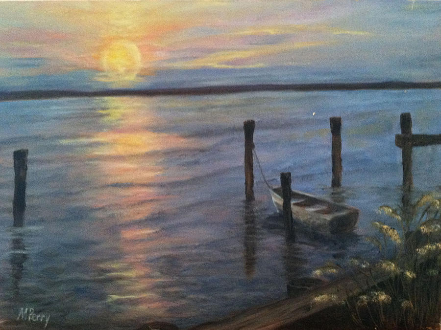 Sunset on the Bay by Margie Perry