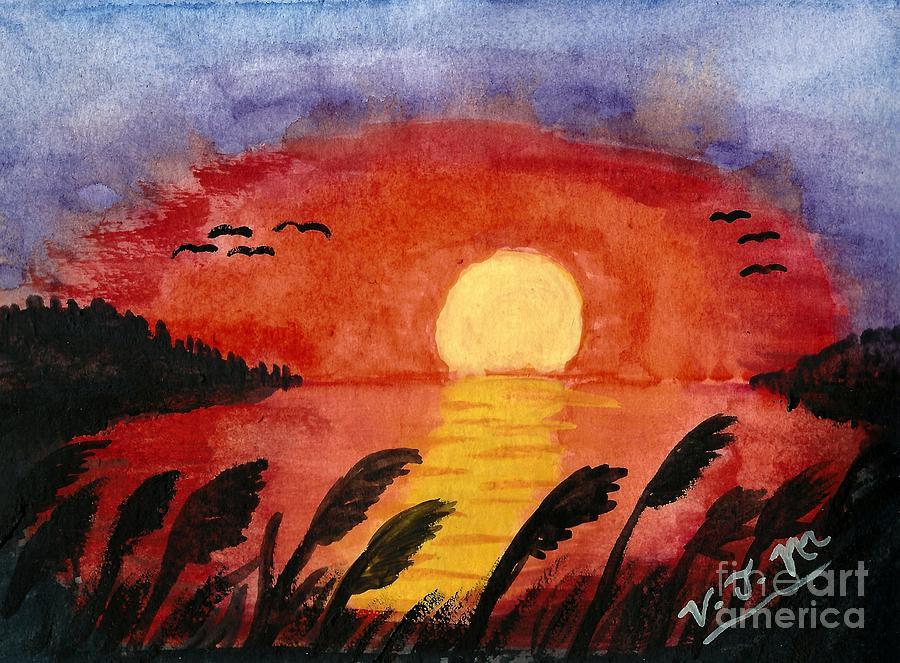 Sunset on the Bay by Vicki Maheu