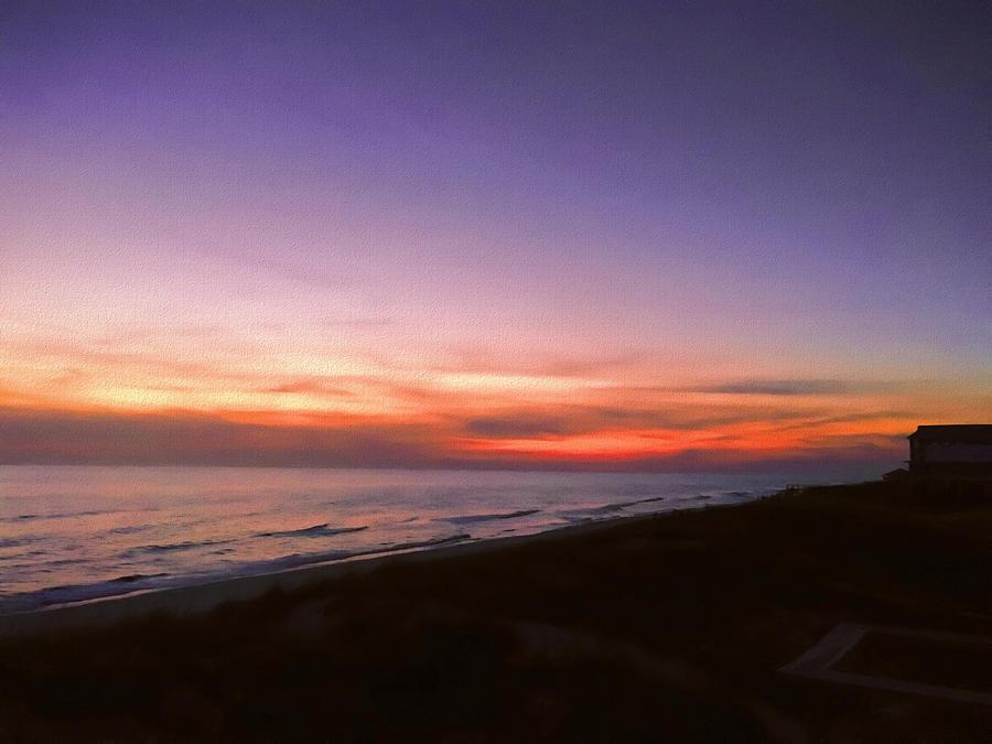 Sunset Photograph - Sunset On The Beach At Cape San Blas, Florida by WildBird Photographs