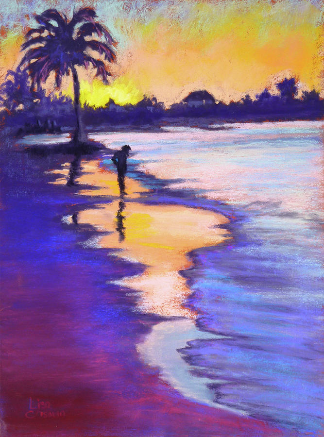 Sunset on the Beach by Lisa Crisman