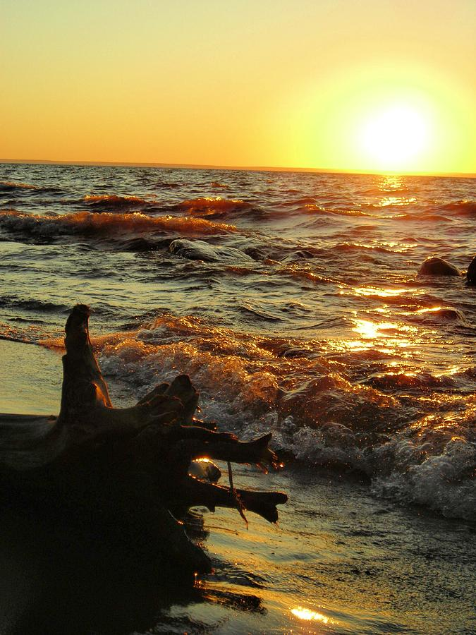 Sunset Photograph - Sunset On The Beach by Peter Mowry