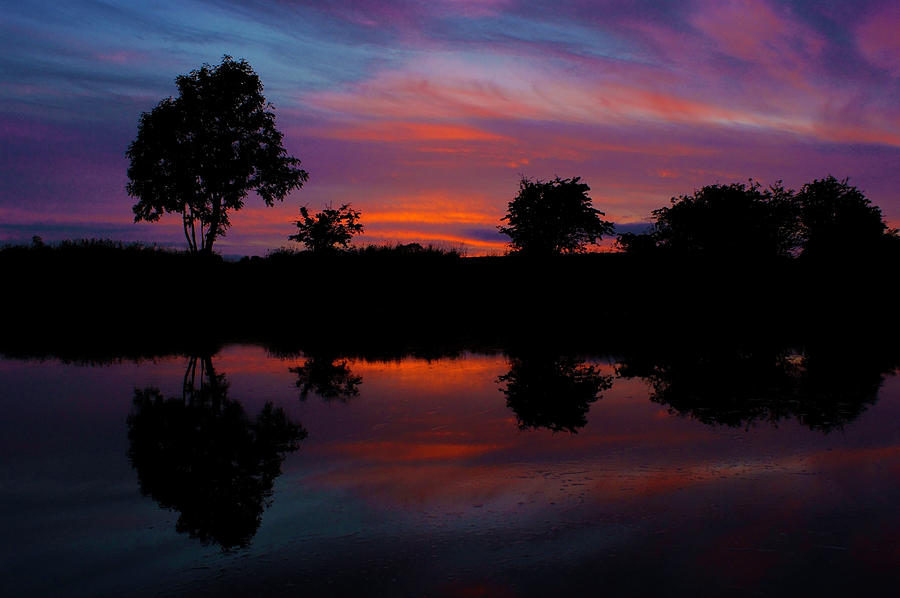 Landscape Photograph - Sunset On The Bladnoch by Andy Beattie Photography