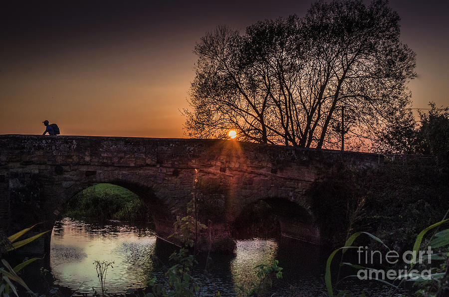 Sunset on the Bridge, Newenden by Perry Rodriguez