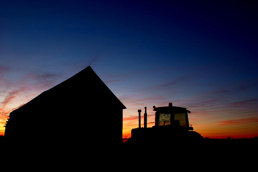 Barn Photograph - Sunset On The Farm by Cale Best