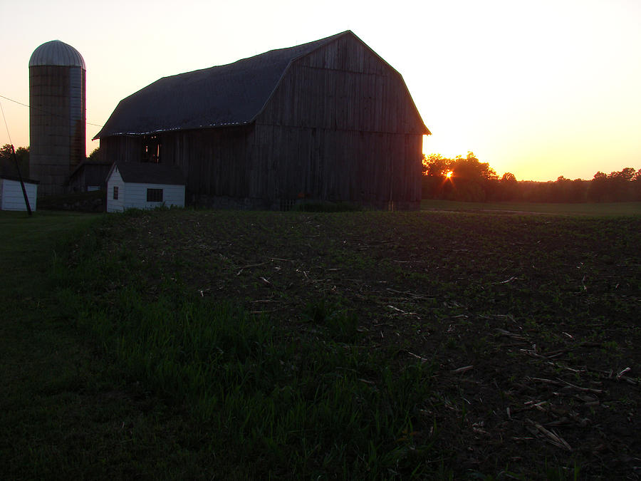 Landscape Photograph - Sunset On The Farm by Todd Zabel