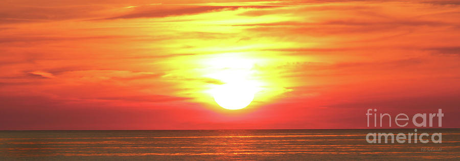 Sunset on the Great Lakes by E B Schmidt