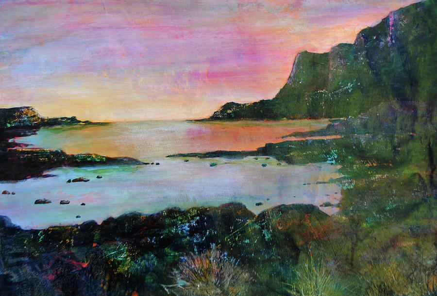 Scotland Painting - Sunset On The Isle Of Skye by Kay Fuller