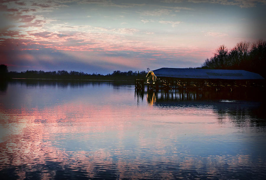 Sunset Photograph - Sunset On The Lake by Dave Chafin