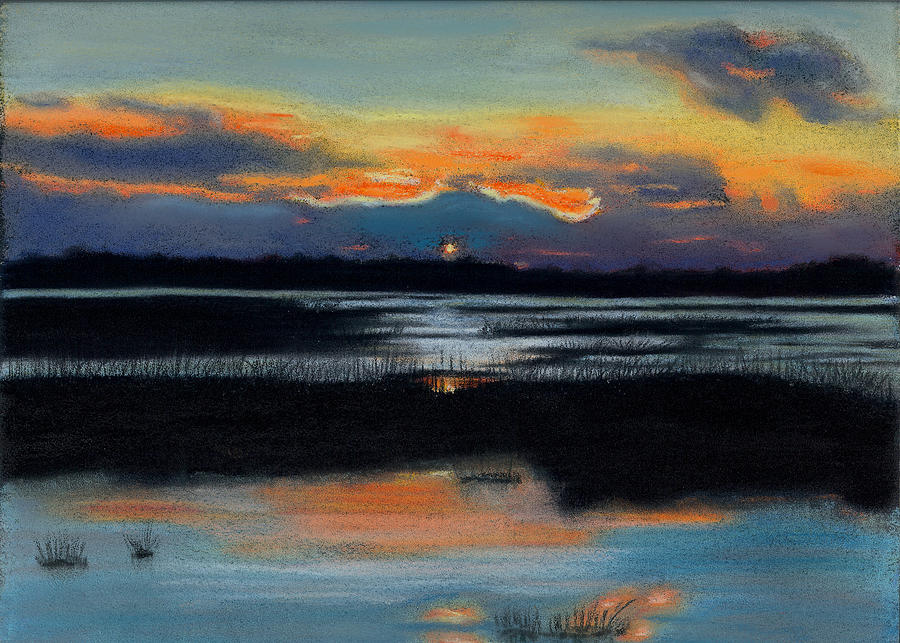 Sunset on the Marsh by Marcia  Hero