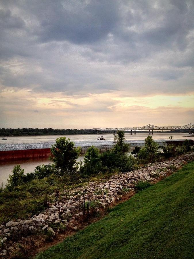 Landscape Photograph - Sunset On The Mississippi by Jen McKnight