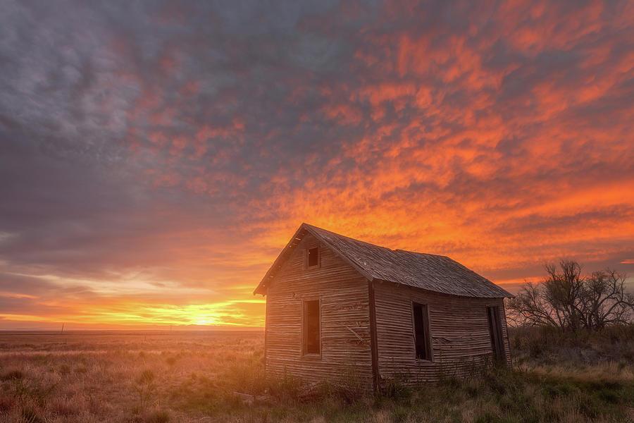 Sunset On The Prairie Photograph