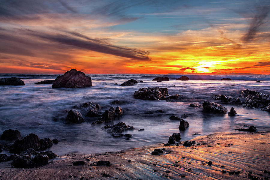 Sunset on the Rocks by Jason Roberts