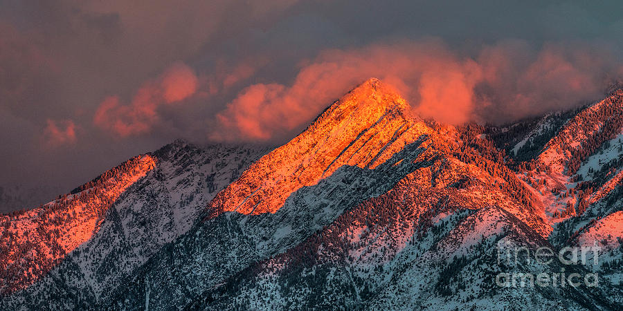 Sunset on the Wasatch by Spencer Baugh