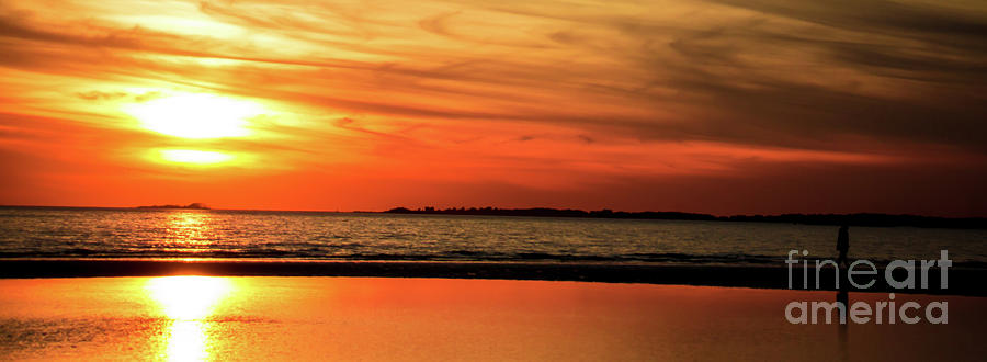 Sunset on the water by Julio Velez
