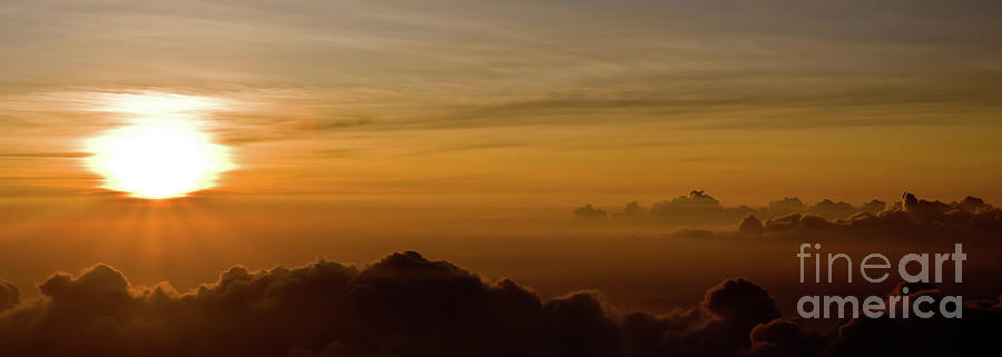 Above Photograph - Sunset on Top of Haleakala by Denis Dore