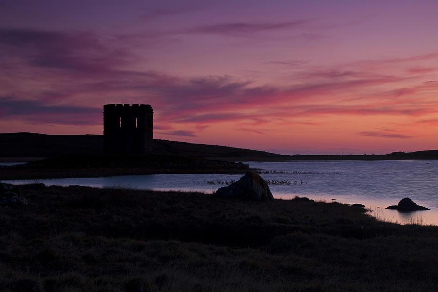 Lake Photograph - Sunset On Uist by Gabor Pozsgai
