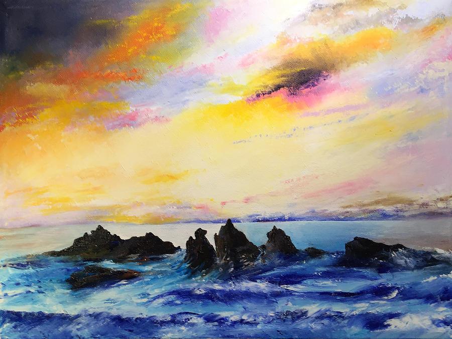 Sunset, Oregon Coast by Terry R MacDonald