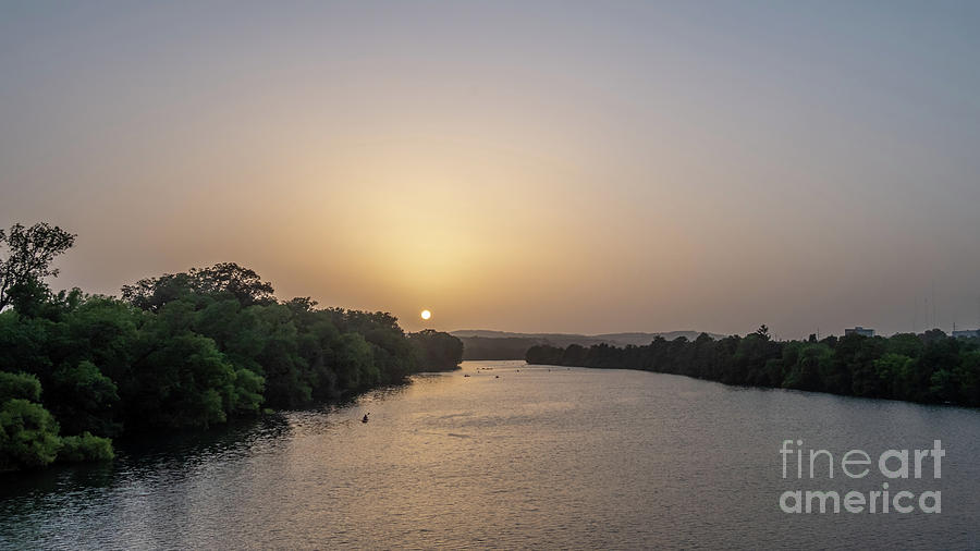 Austin Photograph - Sunset Over Austin Texas River by PorqueNo Studios