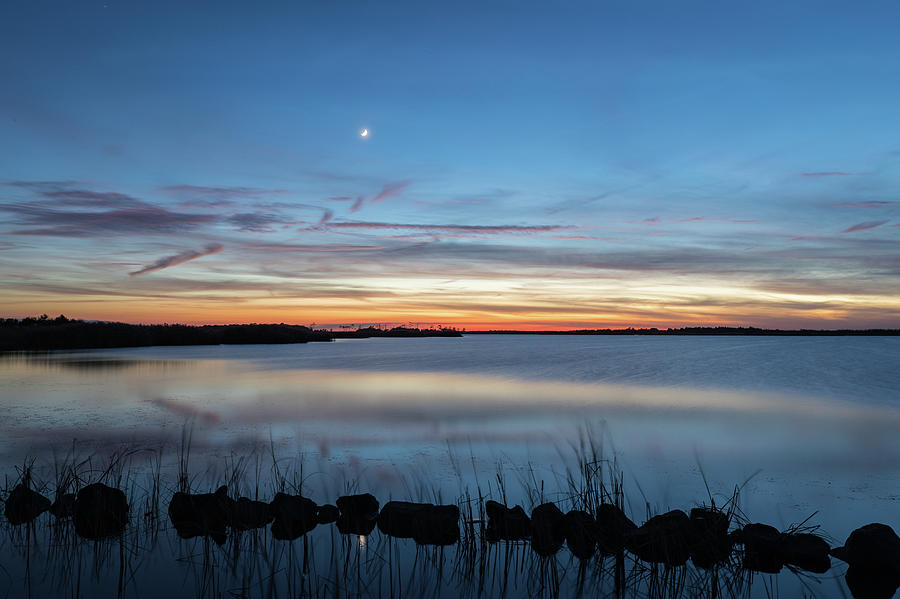 Landscape Photograph - Sunset over Back Bay by M C Hood