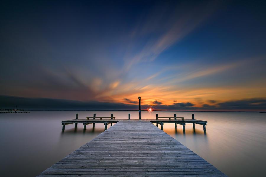 Sunset Photograph - Sunset Over Barnegat Bay by Rick Berk