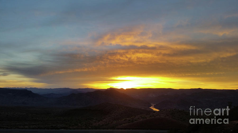 Sunset Over Black Canyon and River #1 by Heather Kirk