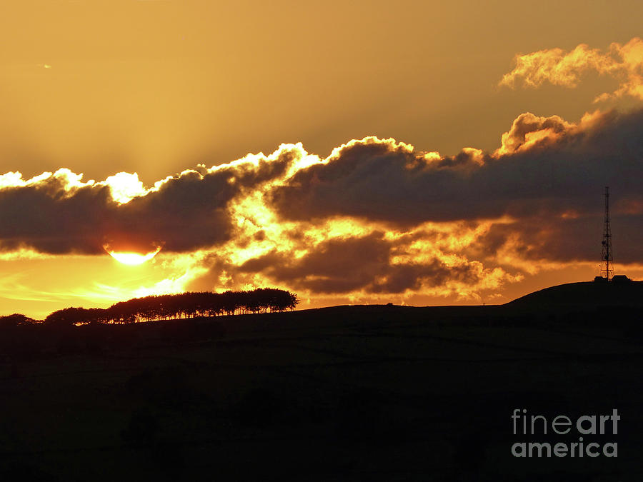 Sunset over Calver Peak by Phil Banks