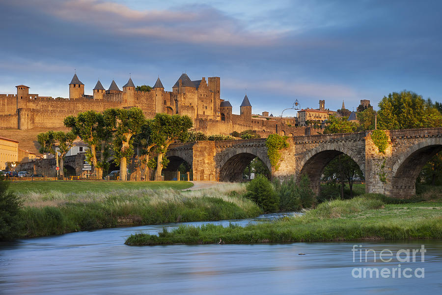 Arch Photograph - Sunset Over Carcassonne by Brian Jannsen