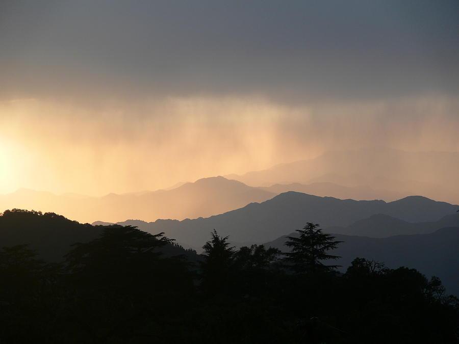 Hills Photograph - Sunset Over Chakrata Hills - 2 by Padamvir Singh