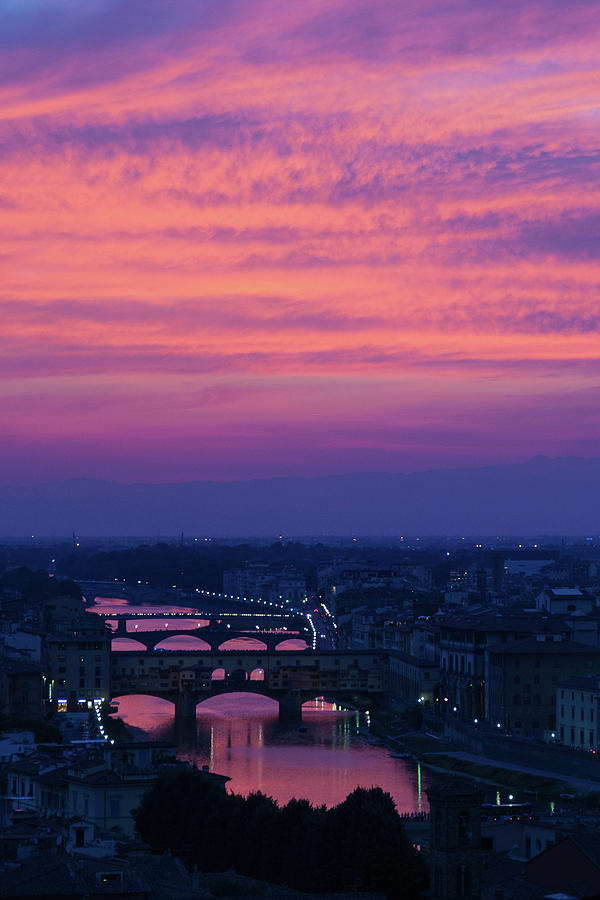 Sunset over Florence by Patricia Schaefer