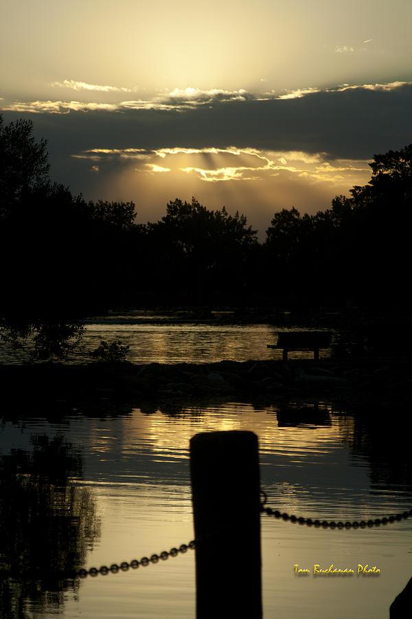 Lake Photograph - Sunset Over Henderson by Tom Buchanan