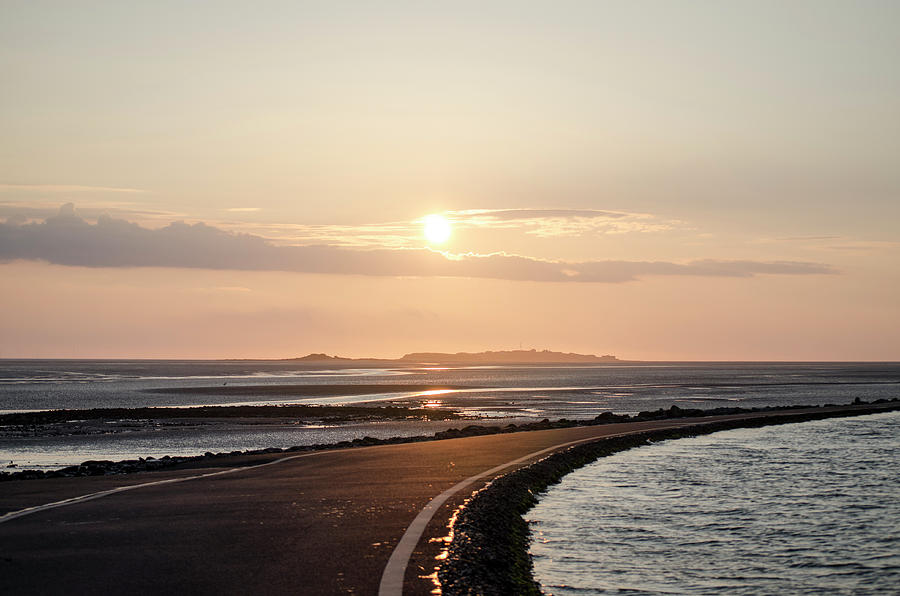 Sunset over HIlbre Island by Spikey Mouse Photography