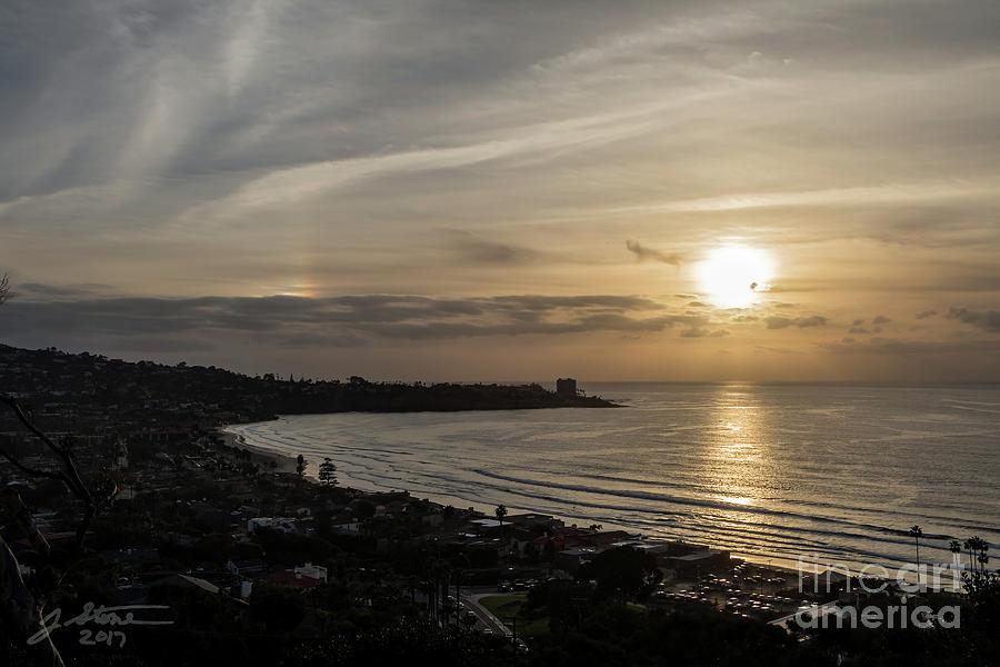 Sunset Over La Jolla Photograph by Jeffrey Stone