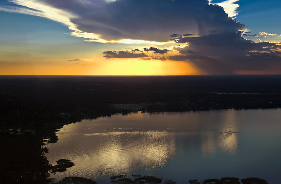 Sunset Photograph - Sunset Over Lake by Carolyn Marshall