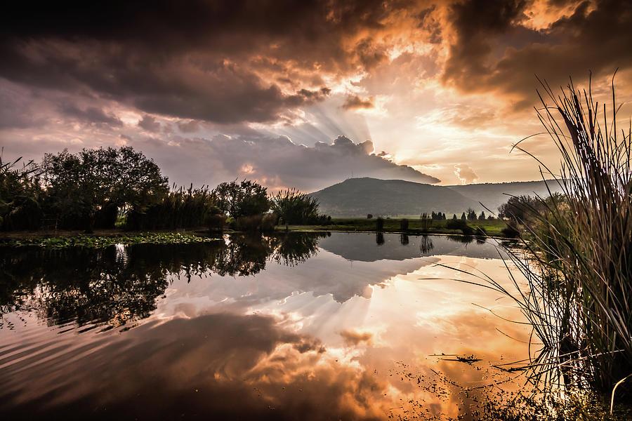 Sunset Over Lake Photograph by Yatir Nitzany